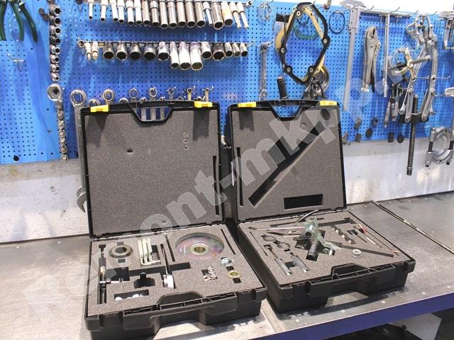 Набор съёмников для снятия - установки сцепления DSG7